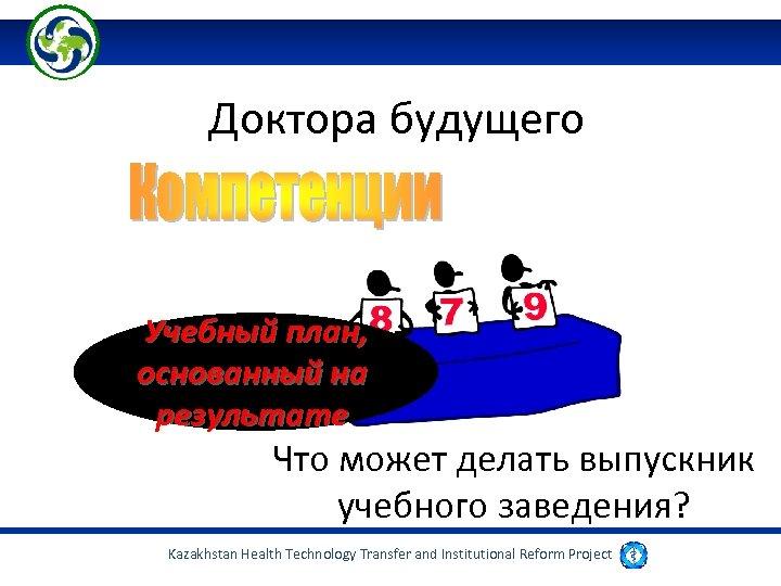 Доктора будущего Учебный план, основанный на результате Что может делать выпускник учебного заведения? Kazakhstan