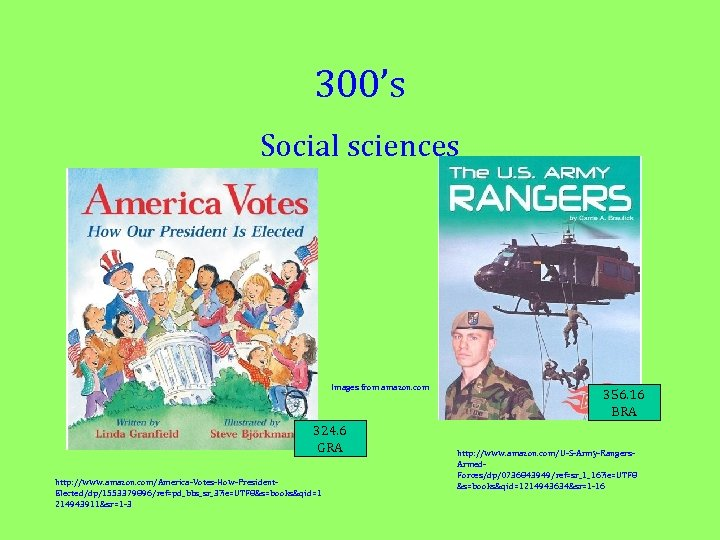 300's Social sciences Images from amazon. com 324. 6 GRA http: //www. amazon. com/America-Votes-How-President.