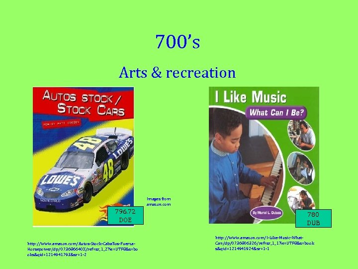 700's Arts & recreation Images from amazon. com 796. 72 DOE http: //www. amazon.