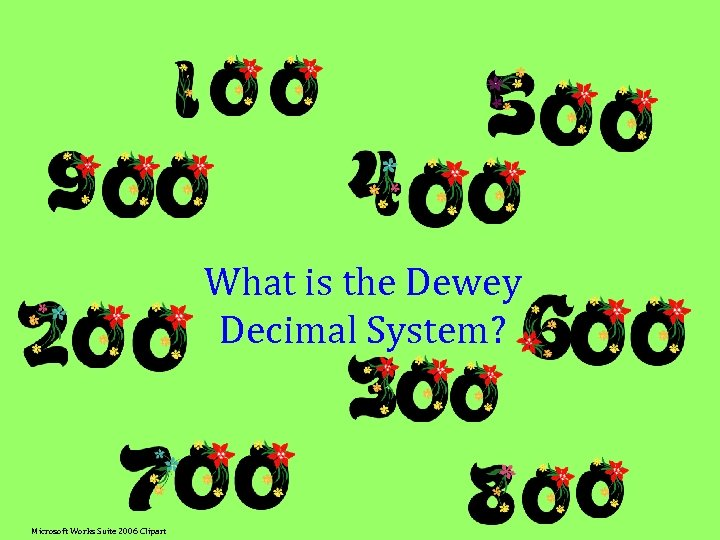What is the Dewey Decimal System? Microsoft Works Suite 2006 Clipart