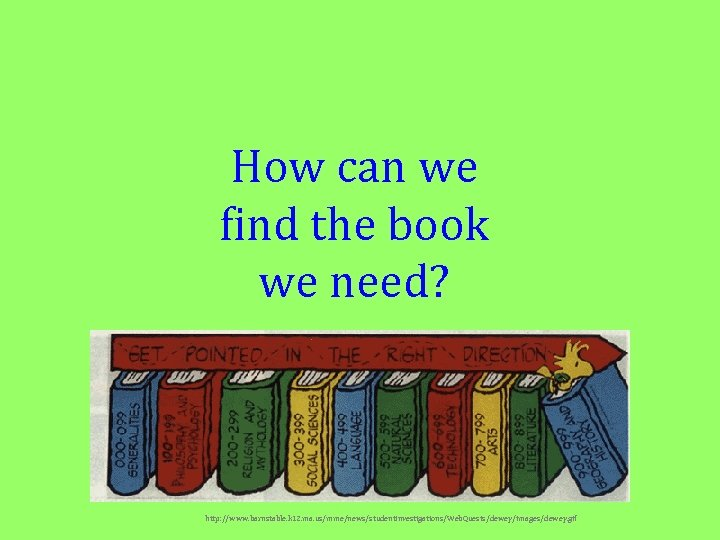 How can we find the book we need? http: //www. barnstable. k 12. ma.