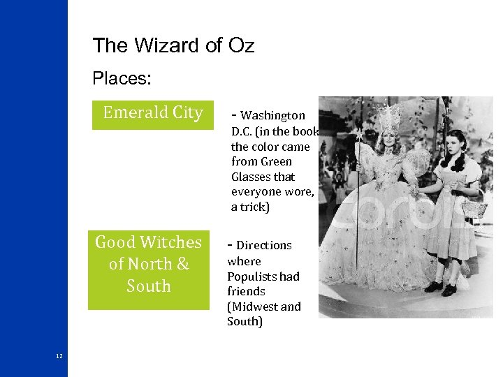 The Wizard of Oz Places: Emerald City - Washington D. C. (in the book,