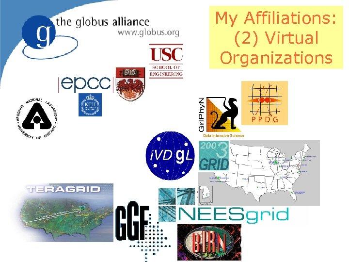 My Affiliations: (2) Virtual Organizations