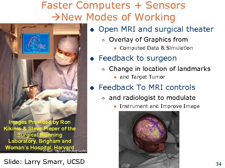 Faster Computers + Sensors New Modes of Working u Open MRI and surgical theater