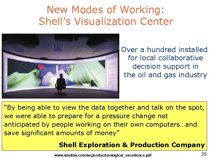 New Modes of Working: Shell's Visualization Center Over a hundred installed for local collaborative
