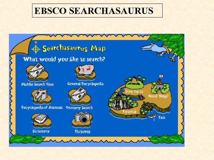 EBSCO SEARCHASAURUS