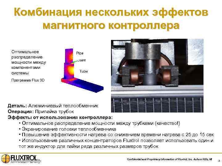 Комбинация нескольких эффектов магнитного контроллера Оптимальное распределение мощности между компонентами системы Программа Flux 3