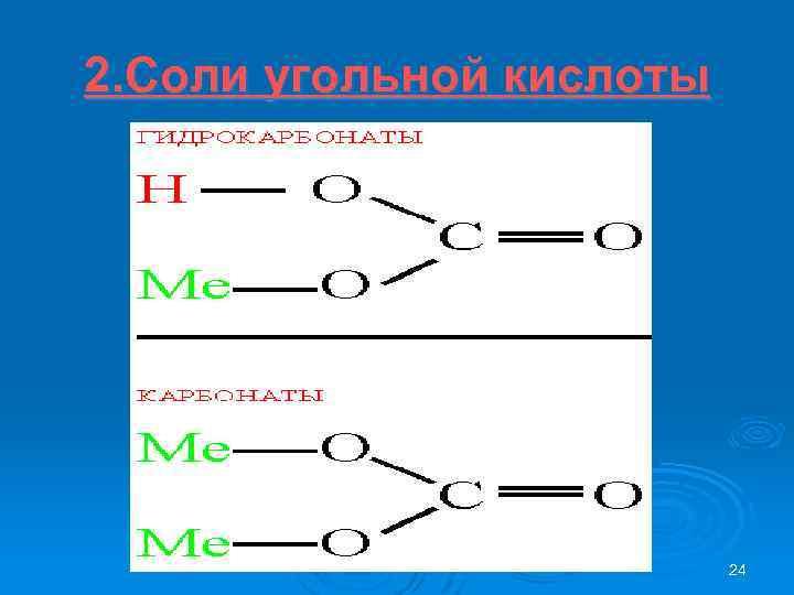 2. Соли угольной кислоты 24