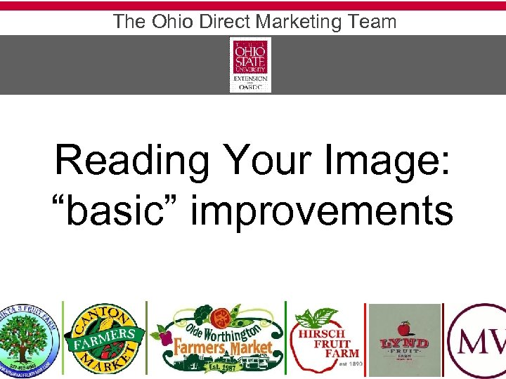"The Ohio Direct Marketing Team Reading Your Image: ""basic"" improvements"
