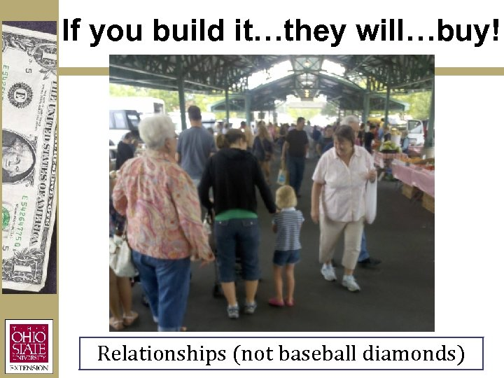 If you build it…they will…buy! Relationships (not baseball diamonds)
