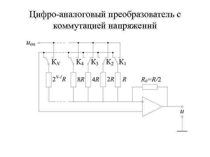 Цифро-аналоговый преобразователь с коммутацией напряжений