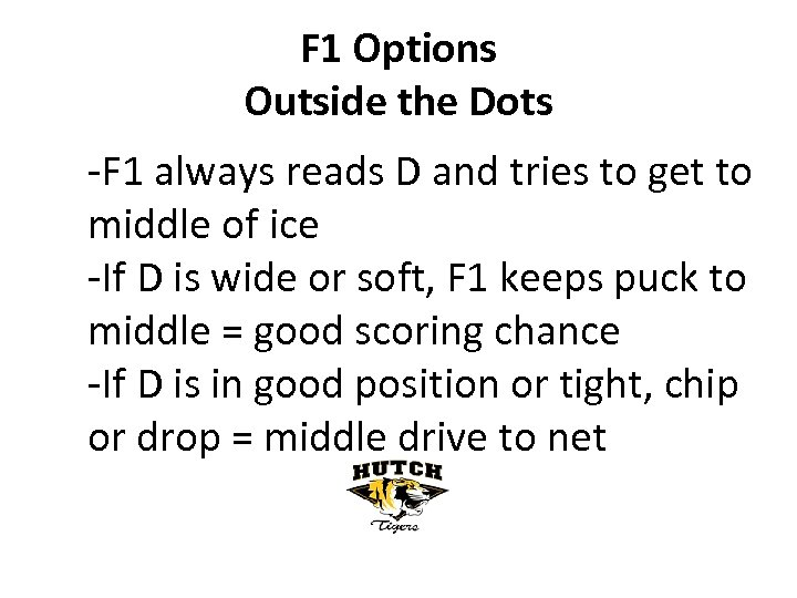 F 1 Options Outside the Dots -F 1 always reads D and tries to