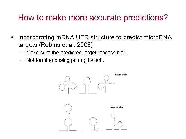 How to make more accurate predictions? • Incorporating m. RNA UTR structure to predict