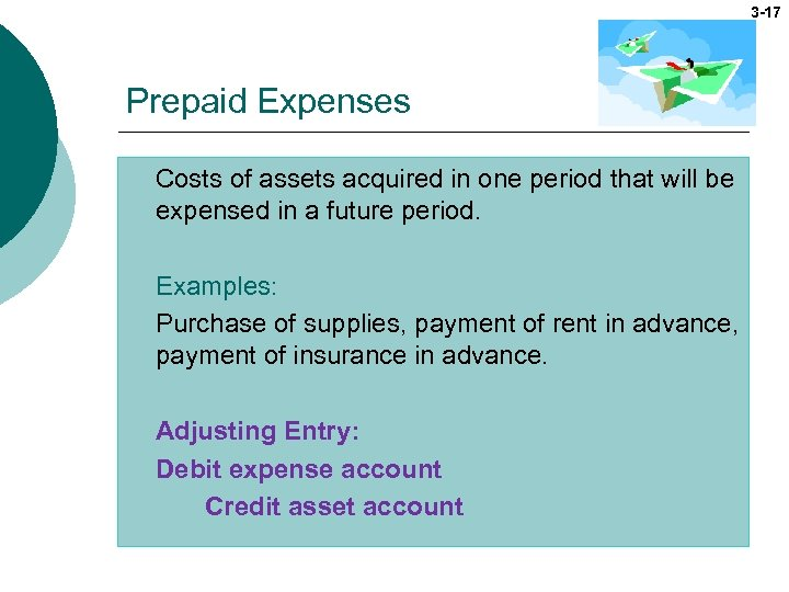 3 -17 Prepaid Expenses Costs of assets acquired in one period that will be