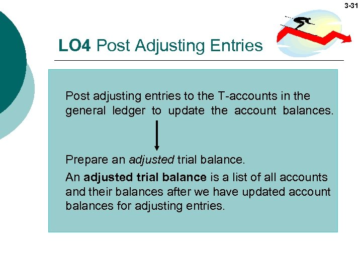 3 -31 LO 4 Post Adjusting Entries Post adjusting entries to the T-accounts in