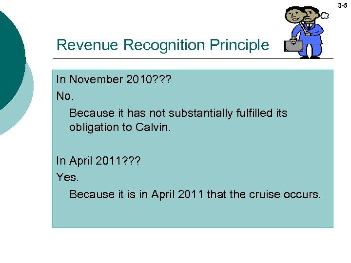 3 -5 Revenue Recognition Principle In November 2010? ? ? No. Because it has