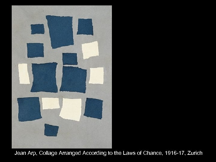 Jean Arp, Collage Arranged According to the Laws of Chance, 1916 -17, Zurich