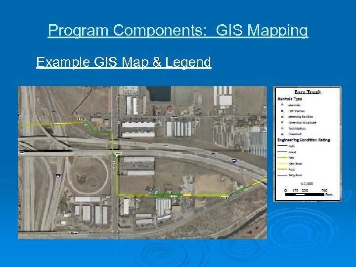 Program Components: GIS Mapping Example GIS Map & Legend