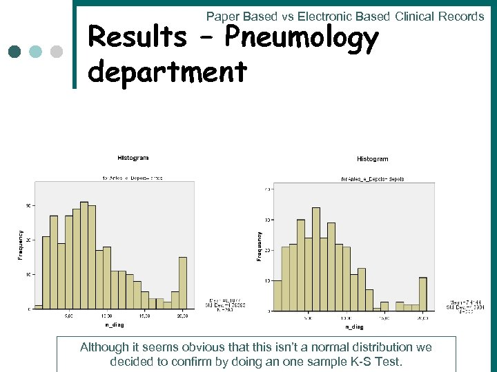 Paper Based vs Electronic Based Clinical Records Results – Pneumology department Although it seems