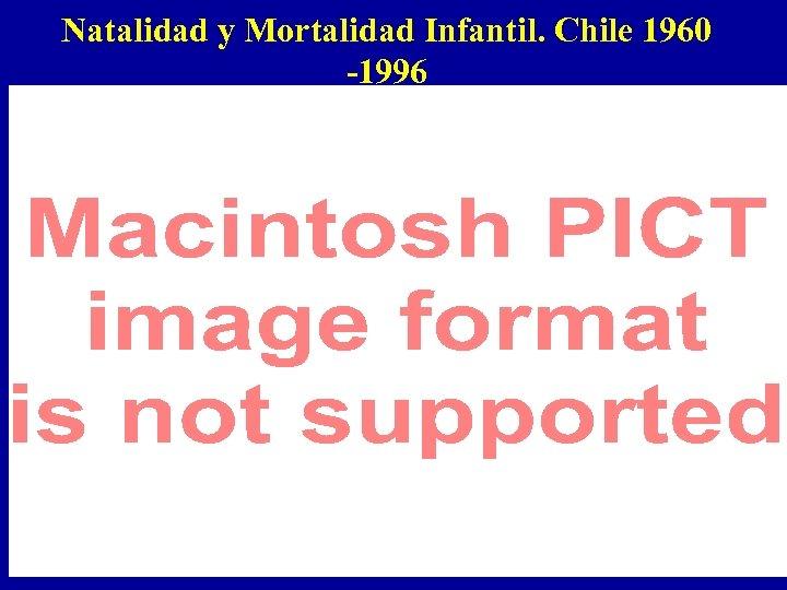 Natalidad y Mortalidad Infantil. Chile 1960 -1996