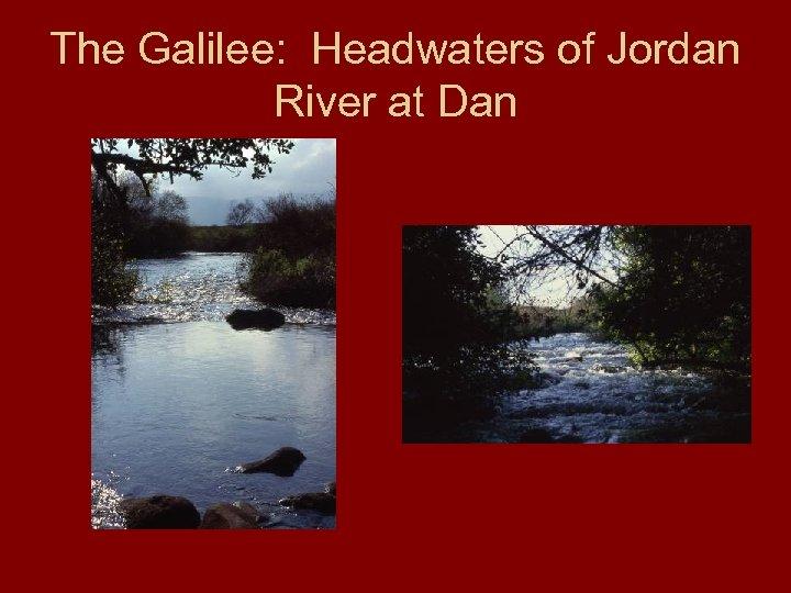 The Galilee: Headwaters of Jordan River at Dan