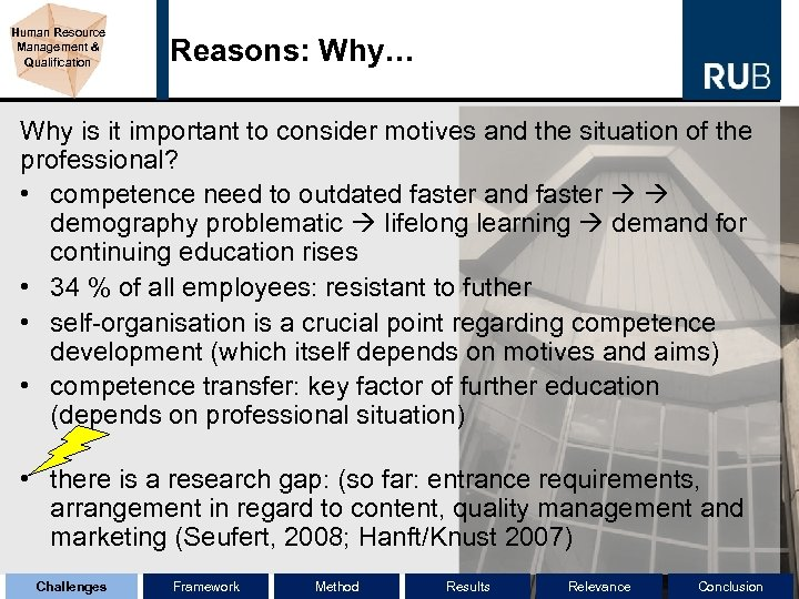 Human Resource Management & Qualification Reasons: Why… Why is it important to consider motives