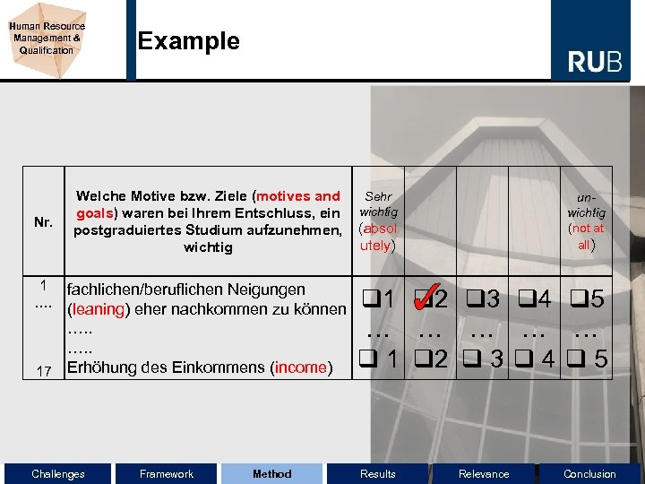 Human Resource Management & Qualification Nr. Example Welche Motive bzw. Ziele (motives and Sehr