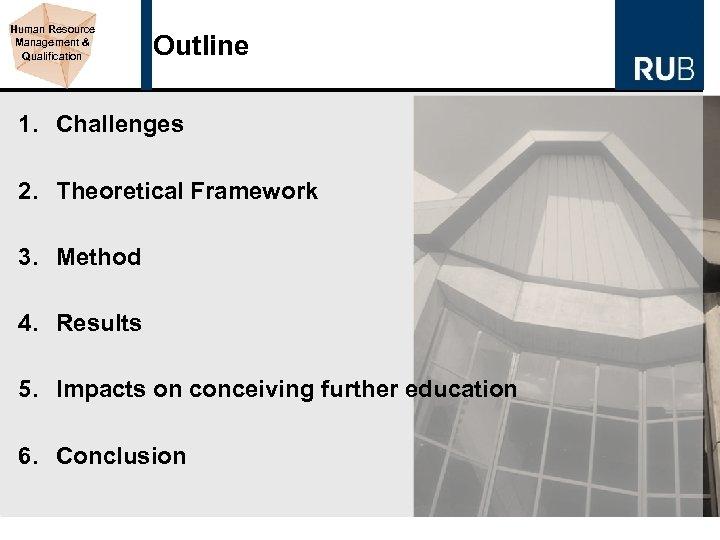Human Resource Management & Qualification Outline 1. Challenges 2. Theoretical Framework 3. Method 4.
