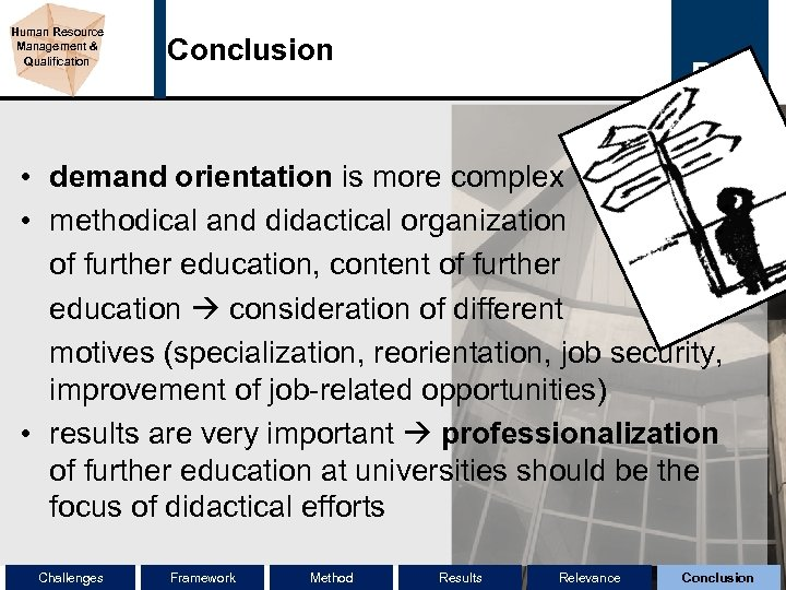 Human Resource Management & Qualification Conclusion • demand orientation is more complex • methodical