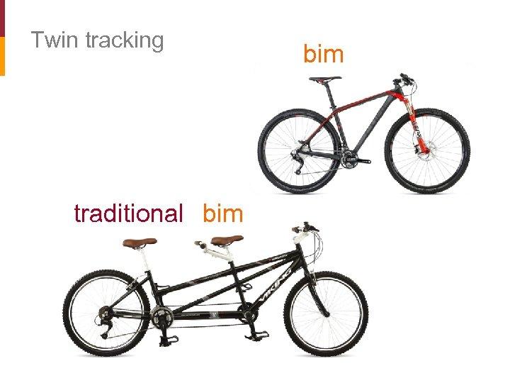 Twin tracking traditional bim