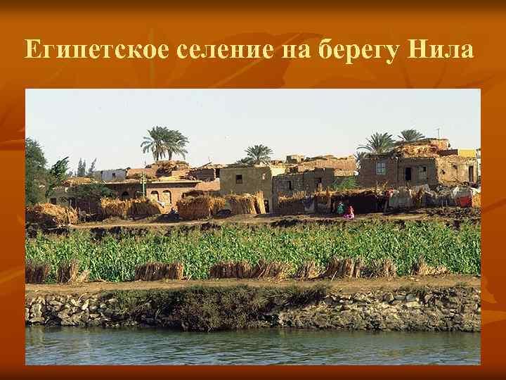 Египетское селение на берегу Нила