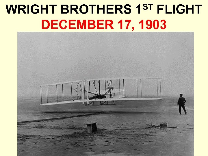 WRIGHT BROTHERS 1 ST FLIGHT DECEMBER 17, 1903