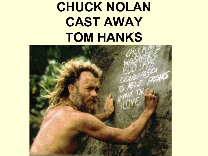 CHUCK NOLAN CAST AWAY TOM HANKS