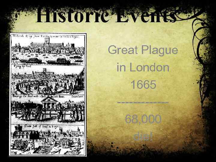 Historic Events Great Plague in London 1665 ------68, 000 die!
