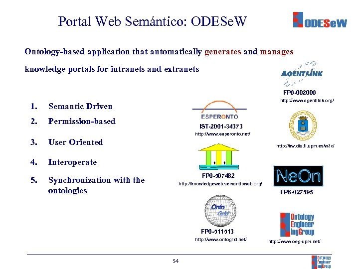 Portal Web Semántico: ODESe. W Ontology-based application that automatically generates and manages knowledge portals