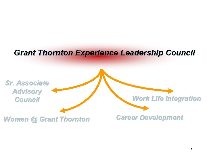 Grant Thornton initiatives Grant Thornton Experience Leadership Council Sr. Associate Advisory Council Women @