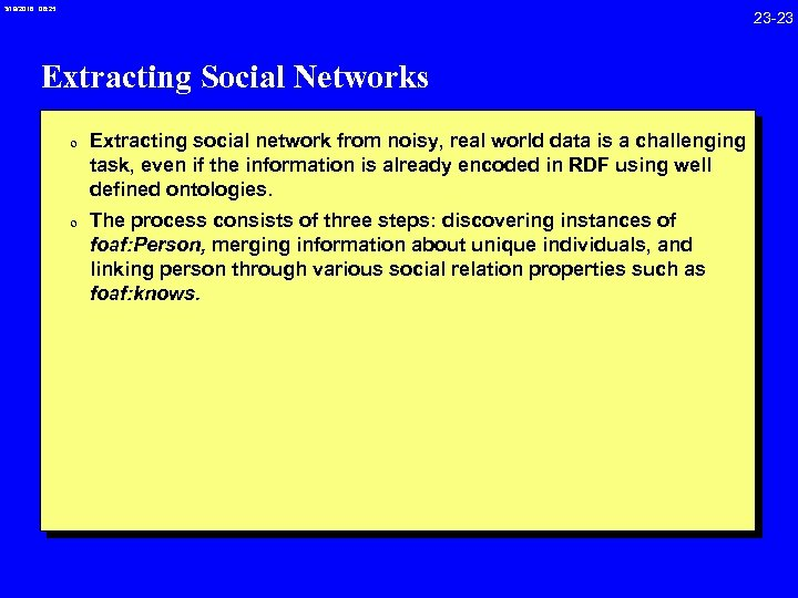 3/19/2018 08: 25 23 -23 Extracting Social Networks 0 Extracting social network from noisy,