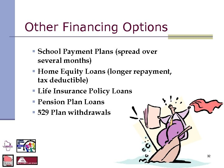 Other Financing Options § School Payment Plans (spread over several months) § Home Equity