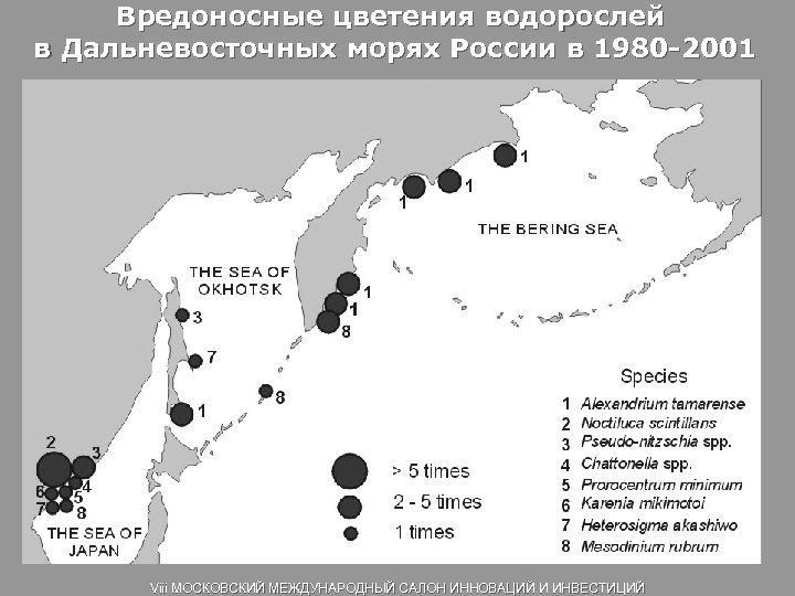Вредоносные цветения водорослей в Дальневосточных морях России в 1980 -2001 Viii МОСКОВСКИЙ МЕЖДУНАРОДНЫЙ САЛОН