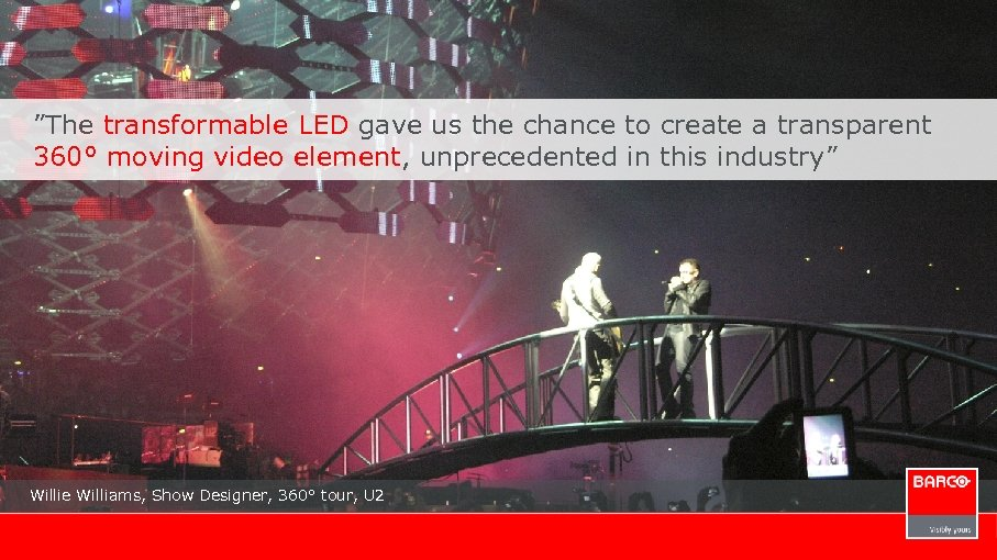 """The transformable LED gave us the chance to create a transparent 360° moving video"