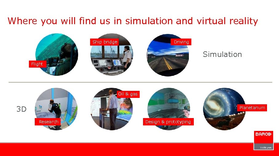 Where you will find us in simulation and virtual reality Ship bridge Driving Simulation