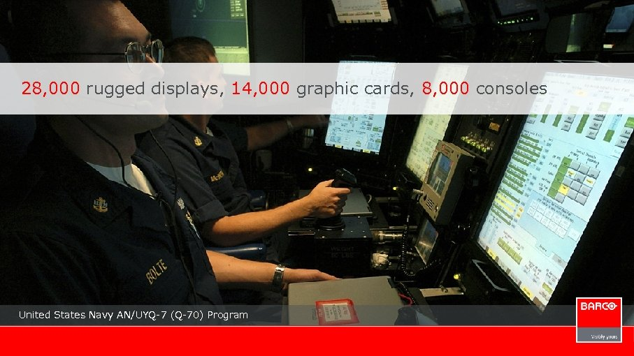 28, 000 rugged displays, 14, 000 graphic cards, 8, 000 consoles United States Navy