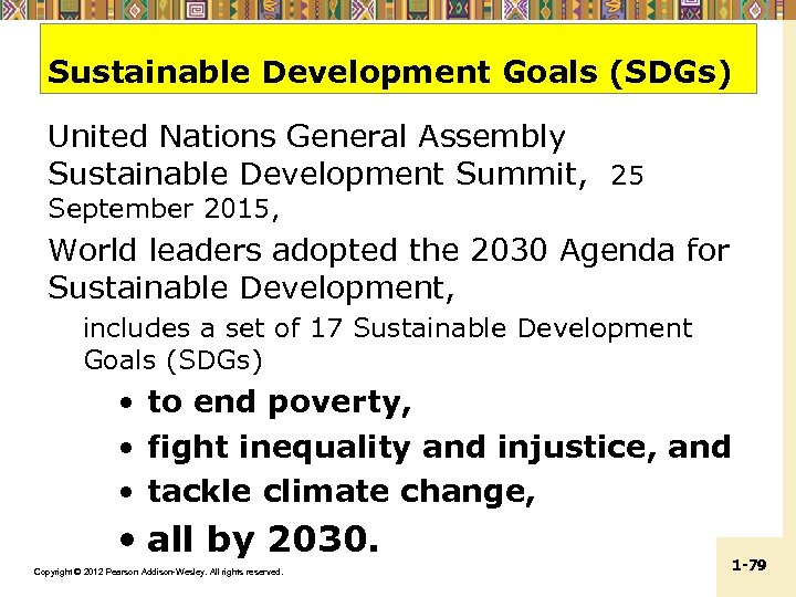 Sustainable Development Goals (SDGs) United Nations General Assembly Sustainable Development Summit, 25 September 2015,