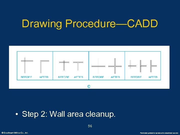 Drawing Procedure—CADD • Step 2: Wall area cleanup. 56 © Goodheart-Willcox Co. , Inc.