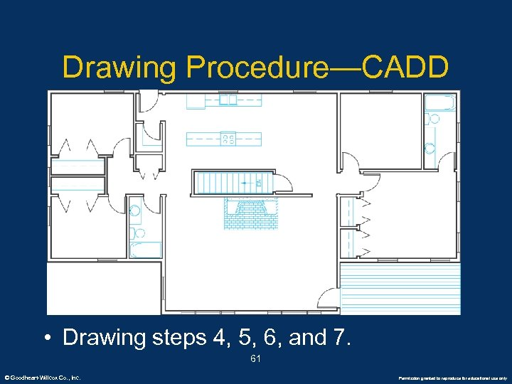 Drawing Procedure—CADD • Drawing steps 4, 5, 6, and 7. 61 © Goodheart-Willcox Co.