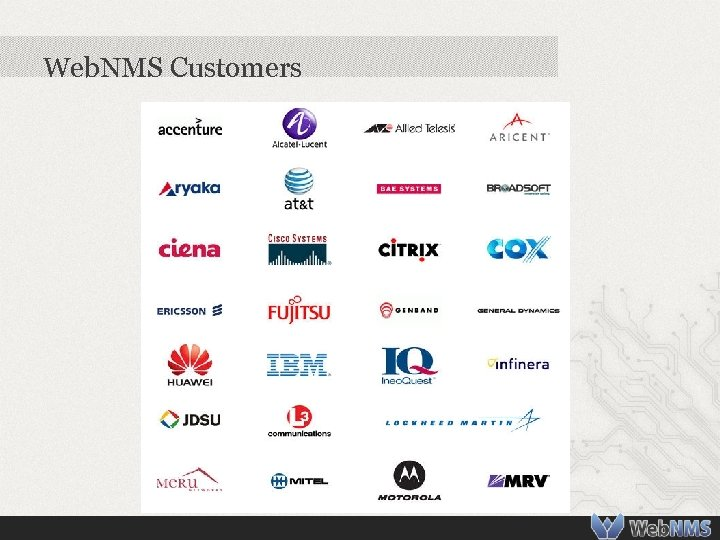 Web. NMS Customers