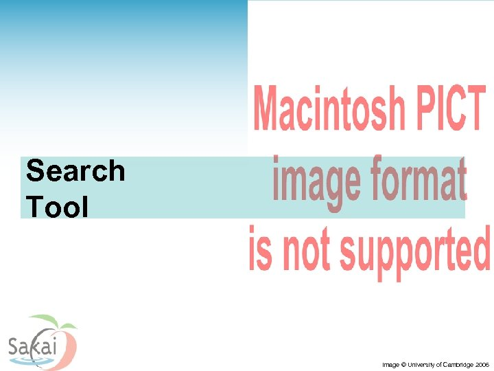 Search Tool Image © University of Cambridge 2006