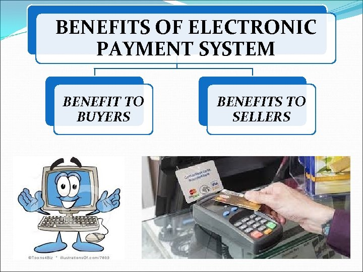 BENEFITS OF ELECTRONIC PAYMENT SYSTEM BENEFIT TO BUYERS BENEFITS TO SELLERS