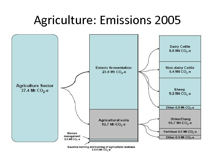 Agriculture: Emissions 2005