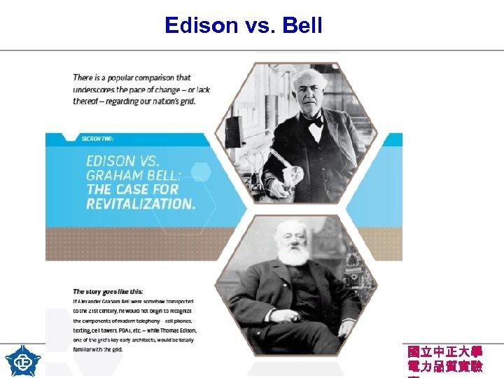 Edison vs. Bell 7 國立中正大學 電力品質實驗